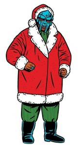 mf doom as santa